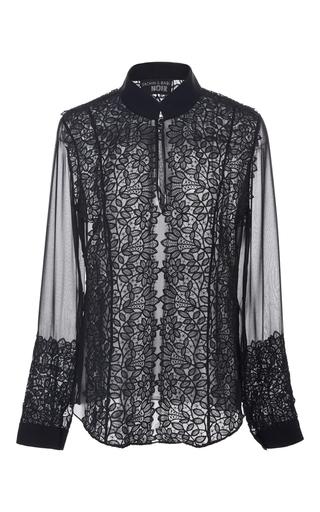 Medium sachin babi black lex sheer lace blouse
