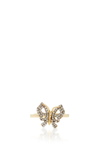Medium aida bergsen gold 14k yellow gold butterfly fauna ring