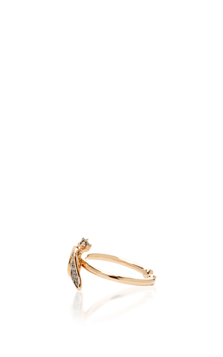 14 K Rose Gold Fauna Bee Ring by AIDA BERGSEN Now Available on Moda Operandi