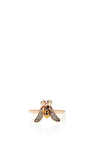 Medium aida bergsen rose gold 14k rose gold fauna bee ring