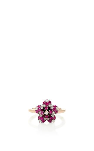 Medium aida bergsen rose gold 14k rose gold flora pink flower ring