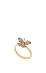 14 K Rose Gold Butterfly Fauna Ring by AIDA BERGSEN Now Available on Moda Operandi