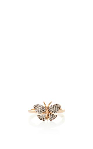 Medium aida bergsen rose gold 14k rose gold butterfly fauna ring