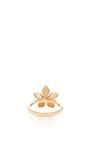 14 K Rose Gold Flora White Diamond Ring by AIDA BERGSEN Now Available on Moda Operandi