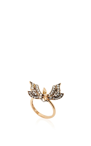 14 K Rose Gold Fauna Fly Ring by AIDA BERGSEN Now Available on Moda Operandi