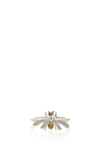 14 K White Gold Bee Fauna Ring by AIDA BERGSEN Now Available on Moda Operandi
