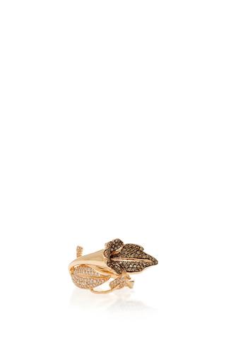 Medium aida bergsen rose gold 14k rose gold flora leaf ring