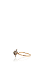 14 K Rose Gold Pink Flora Flower Ring by AIDA BERGSEN Now Available on Moda Operandi