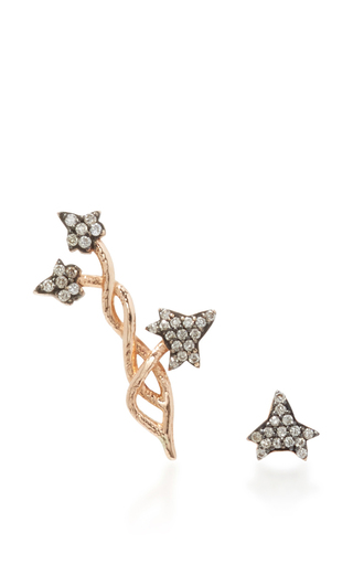 Medium aida bergsen rose gold 14k rose gold ivy ear stud and climber