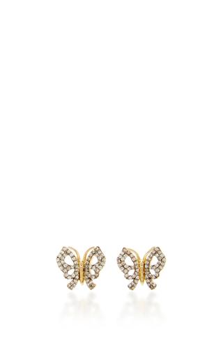 Medium aida bergsen gold 14k yellow gold butterfly fauna earrings