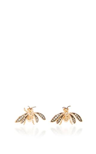 14 K Rose Gold Fauna Bee Stud Earrings by AIDA BERGSEN Now Available on Moda Operandi