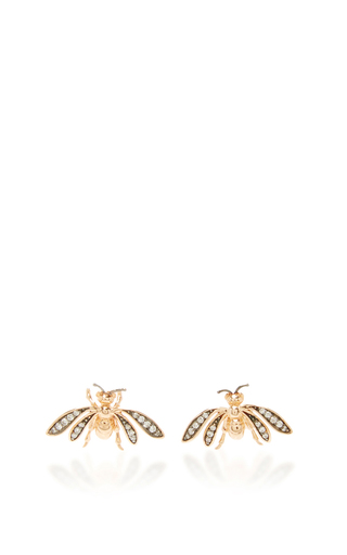 Medium aida bergsen rose gold 14k rose gold fauna bee stud earrings