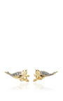 18 K Yellow Gold Wings Earring by AIDA BERGSEN Now Available on Moda Operandi