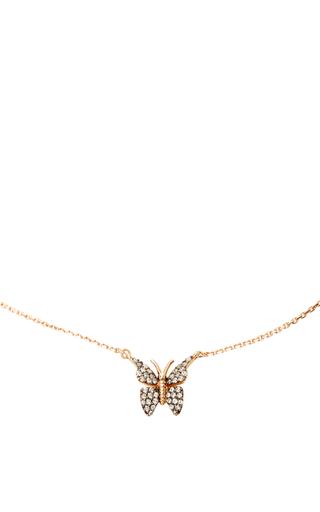 Medium aida bergsen rose gold 14k rose gold fauna butterfly necklace
