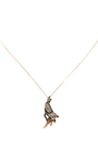 14 K Rose Gold Fauna Necklace by AIDA BERGSEN Now Available on Moda Operandi