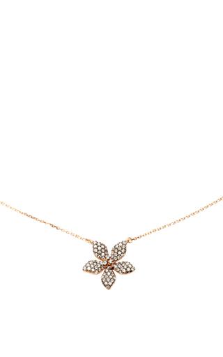 Medium aida bergsen rose gold 14k rose gold flora flower necklace