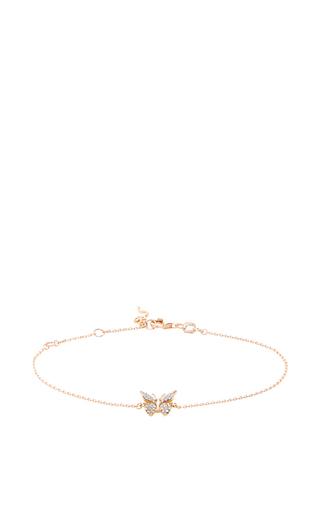 14 K Rose Gold Fauna Butterfly Bracelet by AIDA BERGSEN Now Available on Moda Operandi