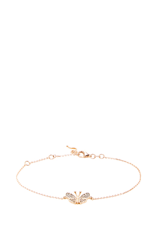 14 K Rose Gold Butterfly Fauna Bracelet by AIDA BERGSEN Now Available on Moda Operandi