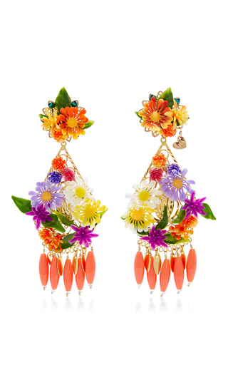 Medium mercedes salazar red fiesta flower earrings 3