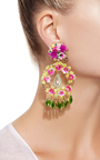 Fiesta Flower Earrings by MERCEDES SALAZAR Now Available on Moda Operandi