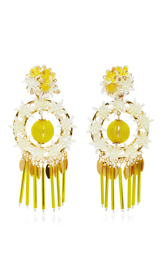 Medium mercedes salazar yellow aretes fiesta earrings