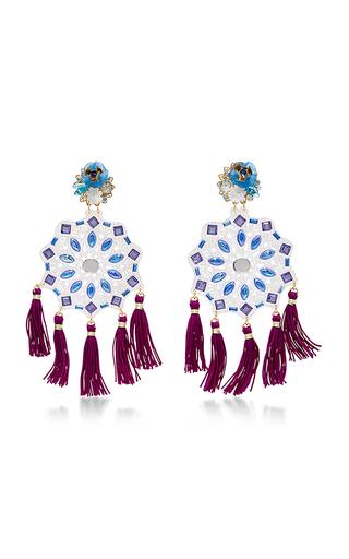 Medium mercedes salazar blue fiesta flower earrings 6