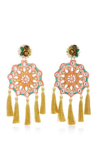Medium mercedes salazar red aretes fiesta earrings 2
