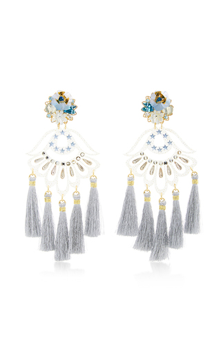 Medium mercedes salazar blue petit aretes fiesta earrings