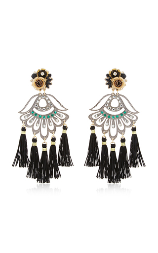 Medium mercedes salazar black petite aretes fiesta earrings