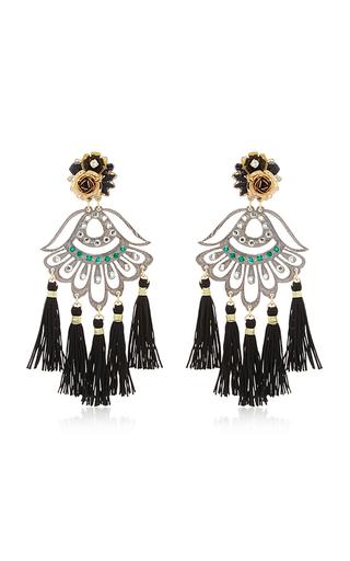Medium mercedes salazar black petite aretes fiesta earrings
