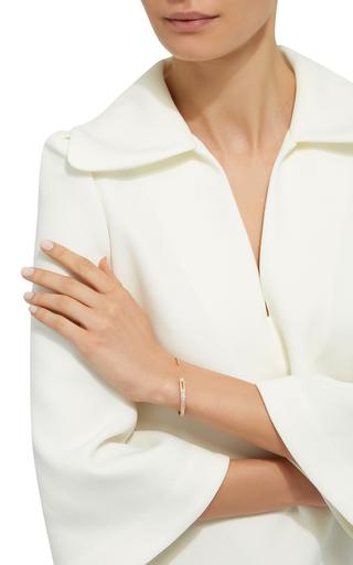 14 K Yellow Gold Eyelet Cuff by JADE TRAU Now Available on Moda Operandi
