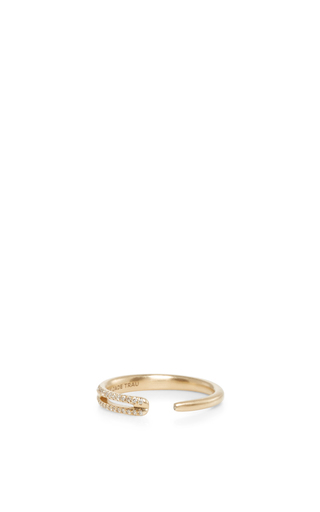 Medium jade trau gold 14k yellow gold eyelet ring