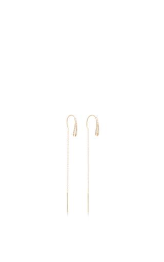 14 K Yellow Gold Eyelet Earrings by JADE TRAU Now Available on Moda Operandi