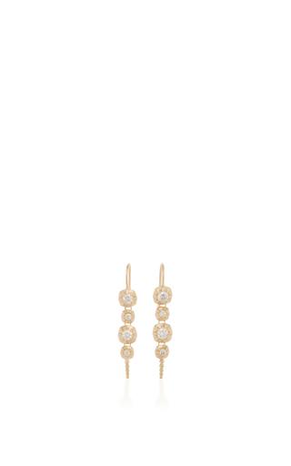 Medium jade trau gold 14k yellow gold touchstone drop earrings 2