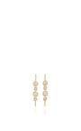 14 K Yellow Gold Touchstone Drop Earrings by JADE TRAU Now Available on Moda Operandi