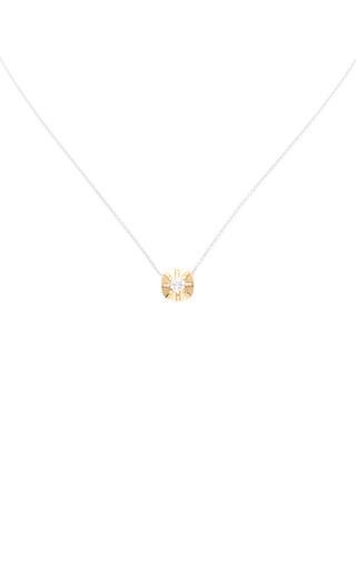 Medium jade trau gold 14k yellow and white gold touchstone pendant