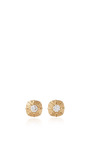 14 K Yellow Gold Touchstone Mini Studs by JADE TRAU Now Available on Moda Operandi