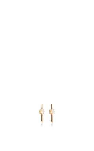 14 K Yellow Gold Rae Studs by JADE TRAU Now Available on Moda Operandi