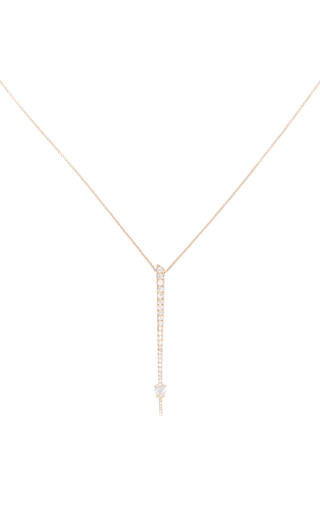 14 K Yellow Gold Rae Pendant by JADE TRAU Now Available on Moda Operandi