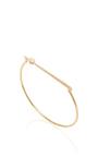 14 K Yellow Gold Rae Cuff by JADE TRAU Now Available on Moda Operandi