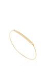 14 K Yellow Gold Typeset Bracelet by JADE TRAU Now Available on Moda Operandi