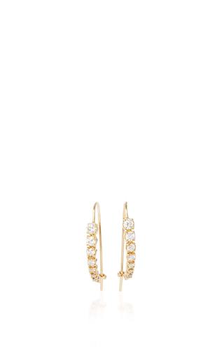 14 K Yellow Gold Luna Hoops  by JADE TRAU Now Available on Moda Operandi