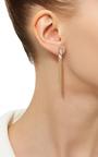 14 K Yellow Gold Typeset Earrings by JADE TRAU Now Available on Moda Operandi