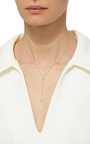 14 K Yellow Gold Sliding Lariat Necklace by JADE TRAU Now Available on Moda Operandi