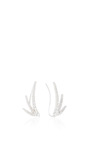 18 K Yellow Gold Luna Trois (Per Pair) by JADE TRAU Now Available on Moda Operandi