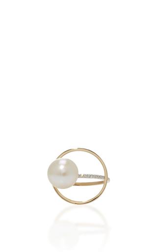 Medium mateo gold 14k yellow gold pearl orbit ring