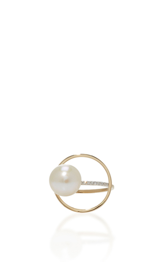 Medium mateo gold 14k yellow gold pearl orbit ring