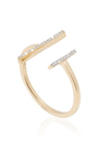 14 K Yellow Gold Double Bar Ring by MATEO Now Available on Moda Operandi