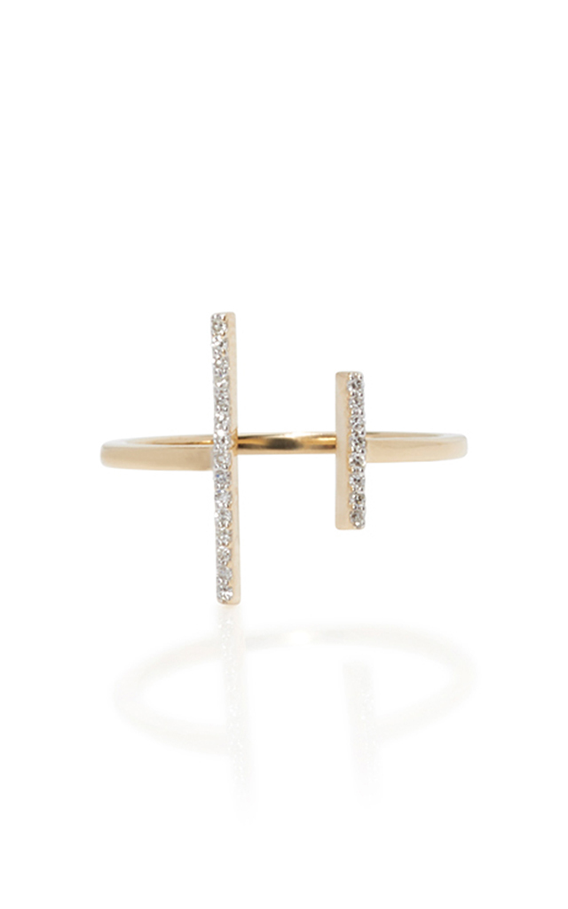 MATEO 14K YELLOW GOLD DOUBLE BAR RING