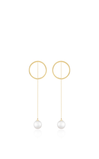 Medium mateo gold 14k yellow gold pearl drop earrings
